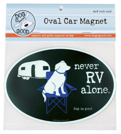 Car Magnet_Never RV alone