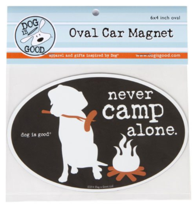 Car Magnet_Never camp alone