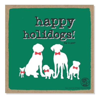 Wooden plaque_Happy holidogs